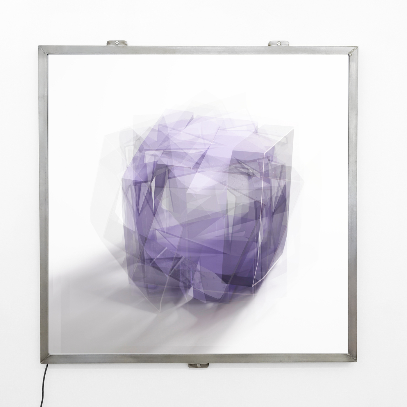 At a distance | purple |  Digital light panels