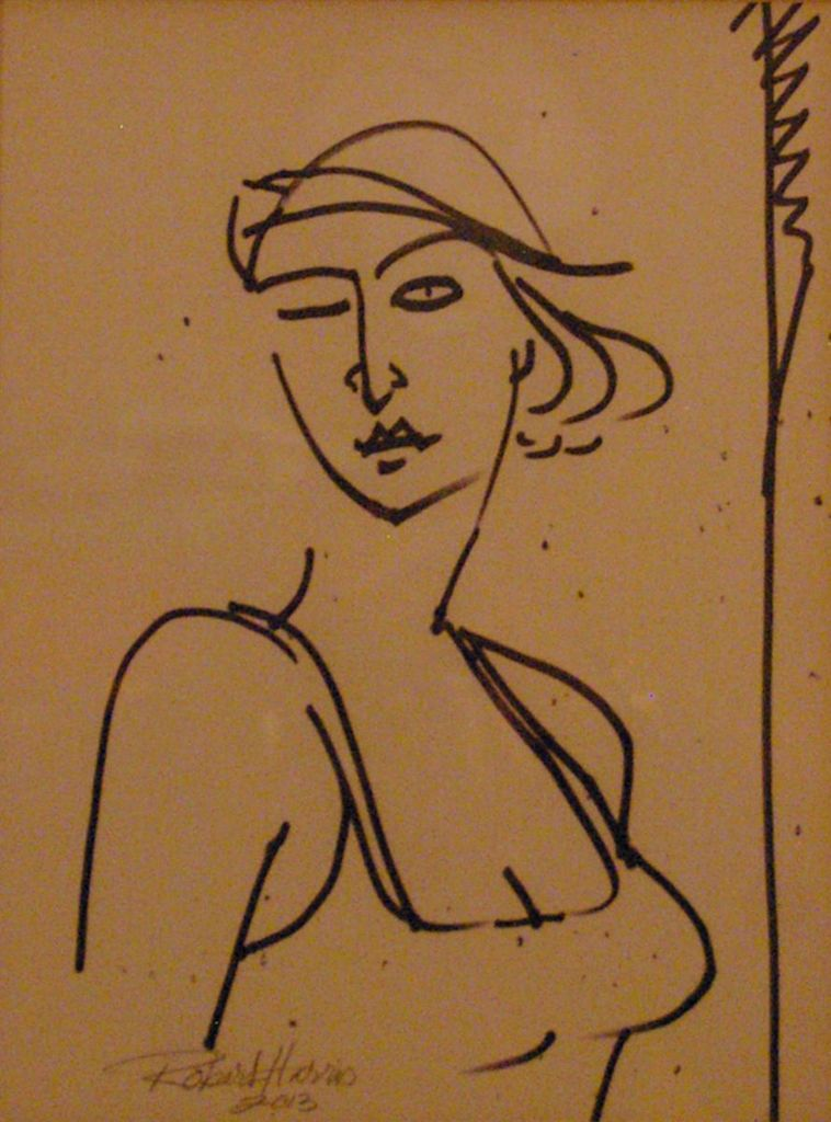 Robert Harris The Wink Pen-n-Ink/Marker on paper 18 1/8 x 14 1/4 in. 2013
