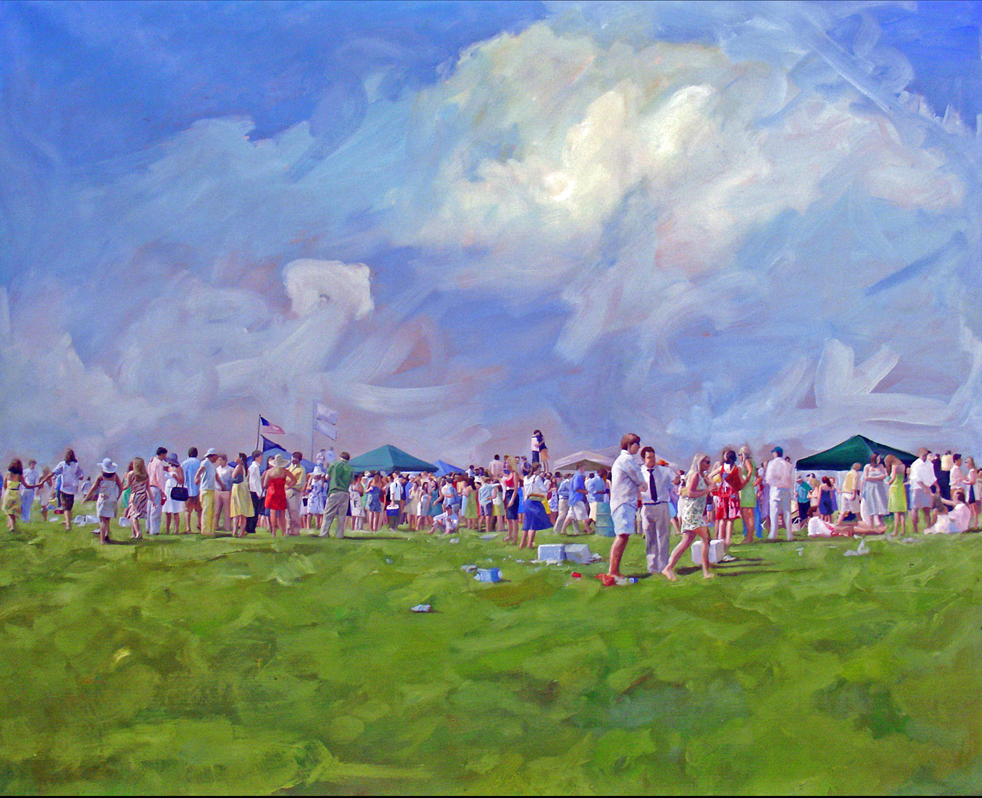 "2008, 50""x 60"", Oil on Canvas. *More from the Carolina Cup.  Joel Parker"