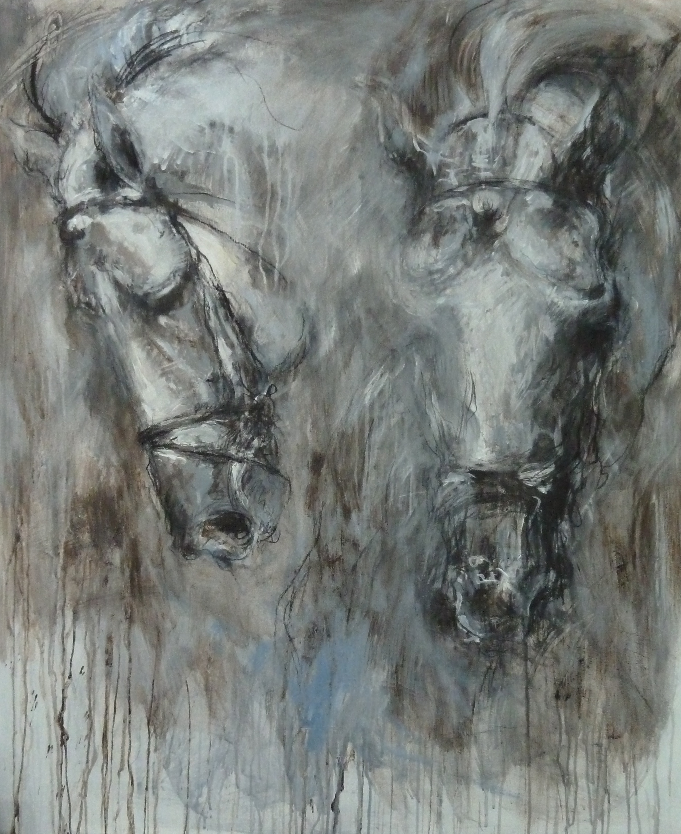 Study of Horses Heads - Palestino