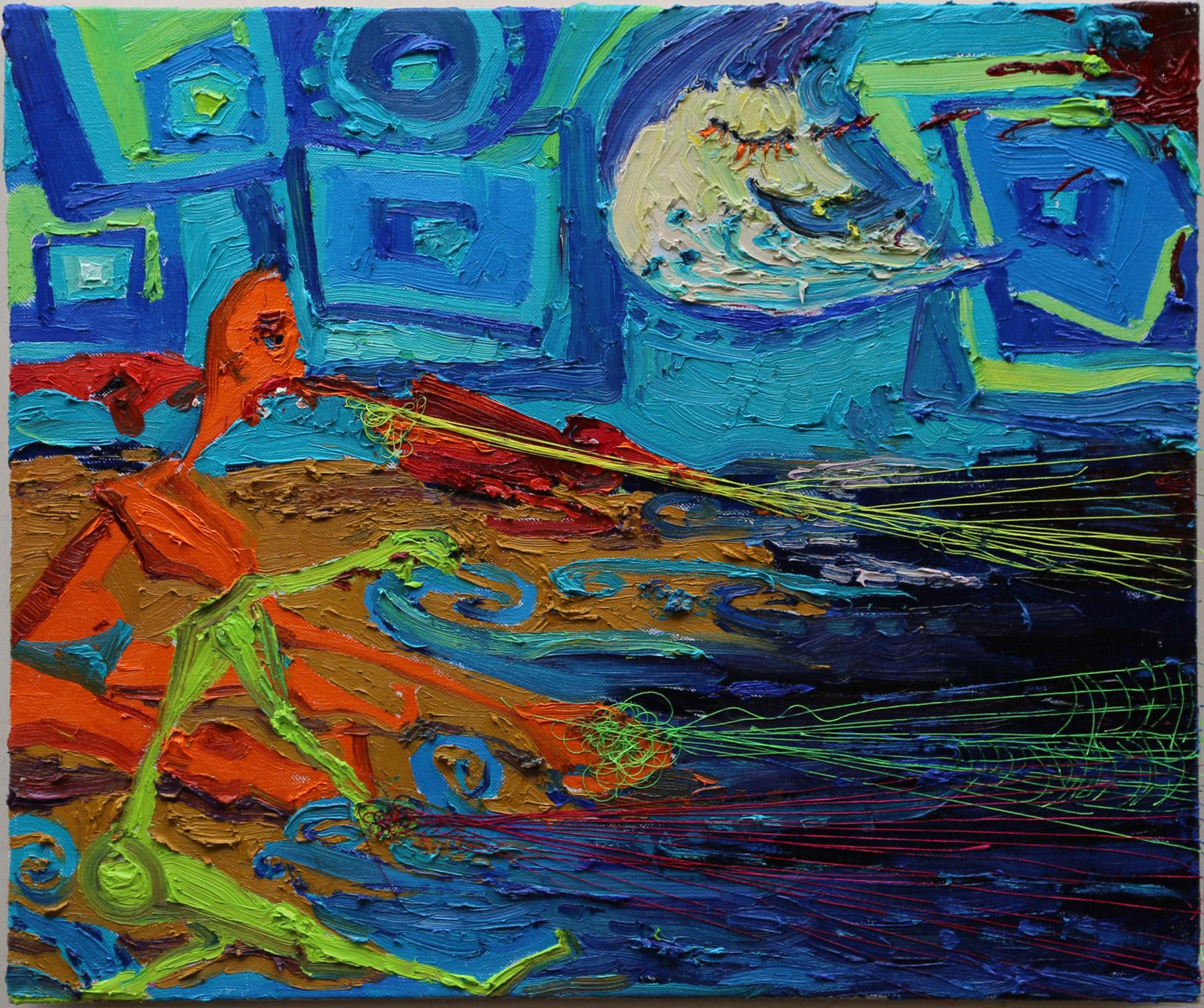 HUNTING FISH IN NIGHT