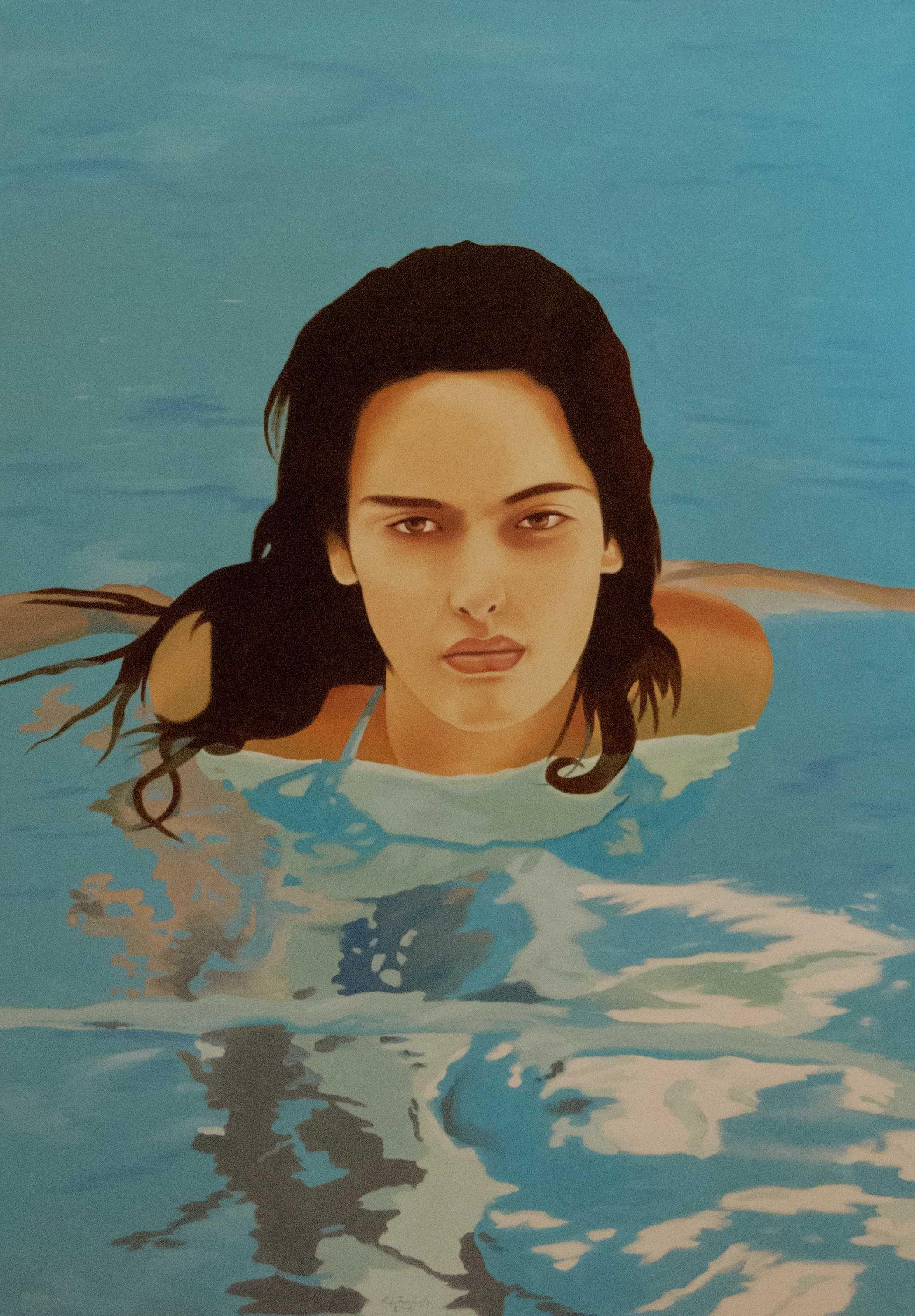 Rita in water