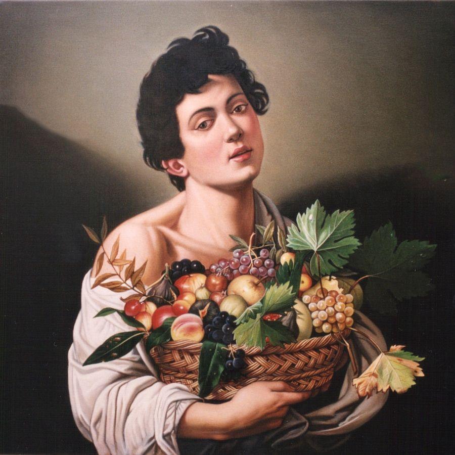 Giovane con canestra di frutta  1593-1594
