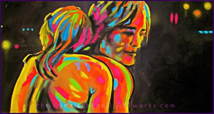 Christine Schnoell, One Serie Love Lines 140 x 70 cm
