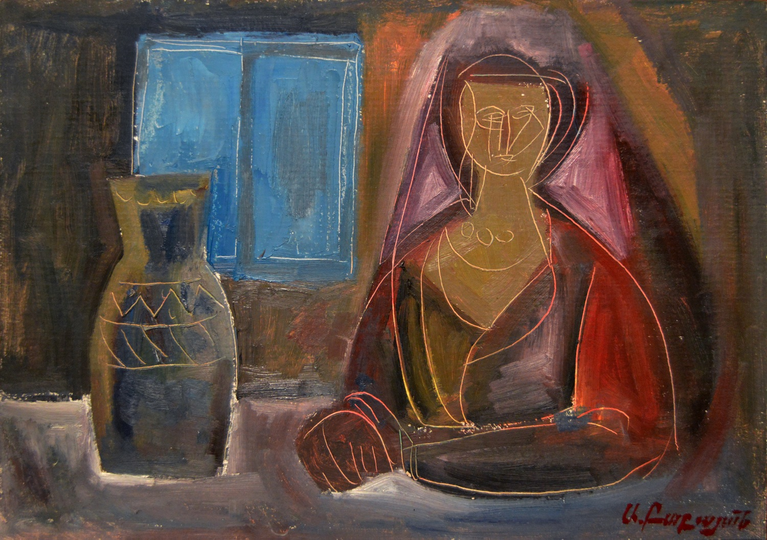 """Woman at the window,"" 1984"