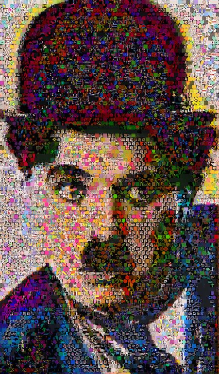 Charlie-Chaplin Collage