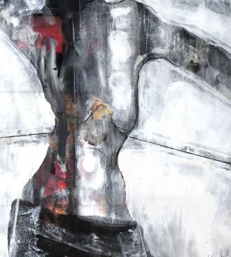 Körper mit Tuch, 1999, Edgar Piel