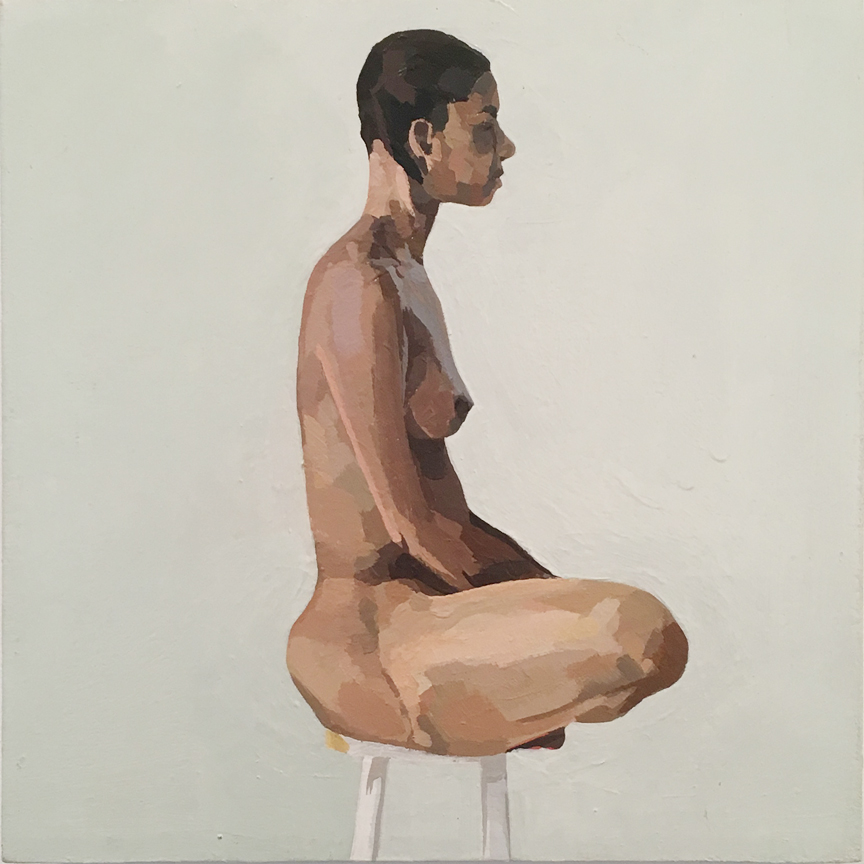 Nude on Stool from Side
