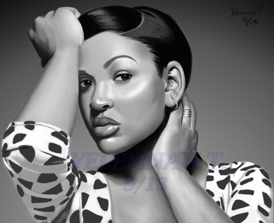 Yelemnah Tessema Megan Good (Black and White) 28 x 22 in. Digital, 2013