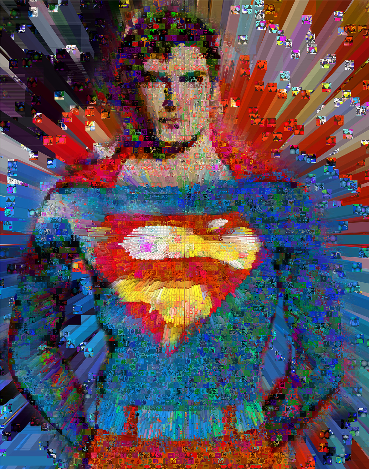 Superman wall Collage