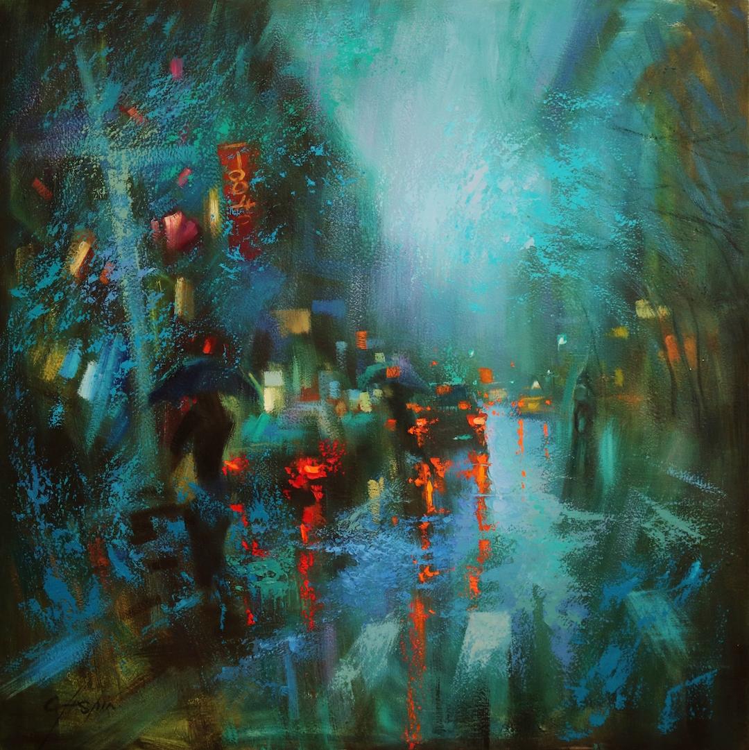 Turquoise Rain in Soho