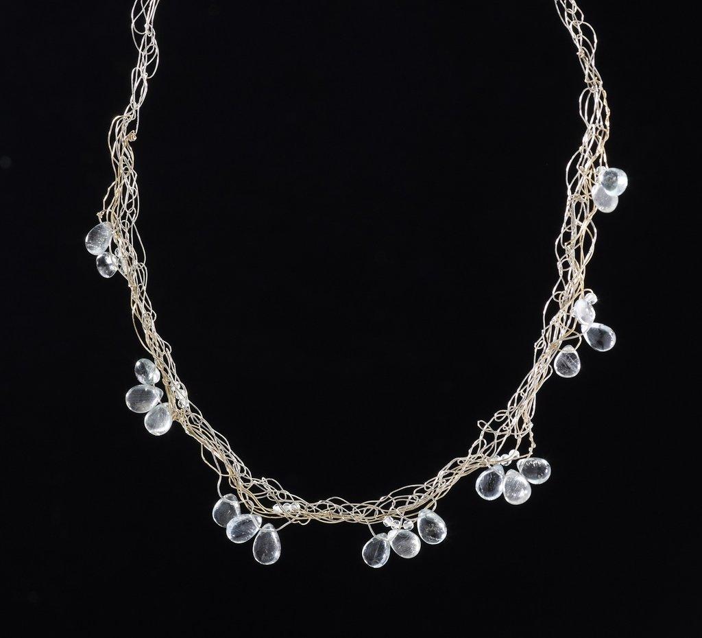 Susan Freda | Spun Necklace with Aquamarine Drop