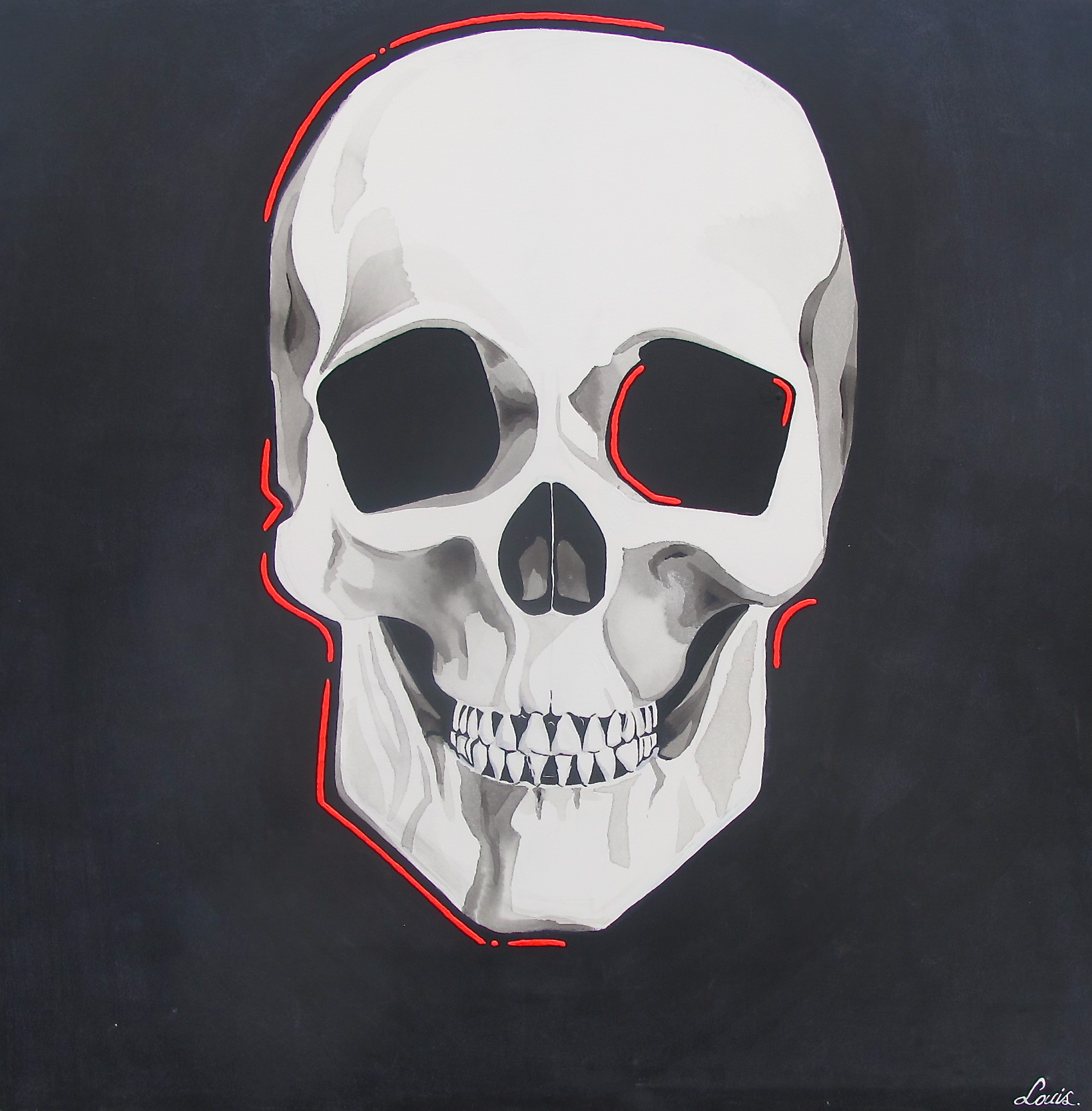 Happy Skull by Louis-Nicolas Darbon