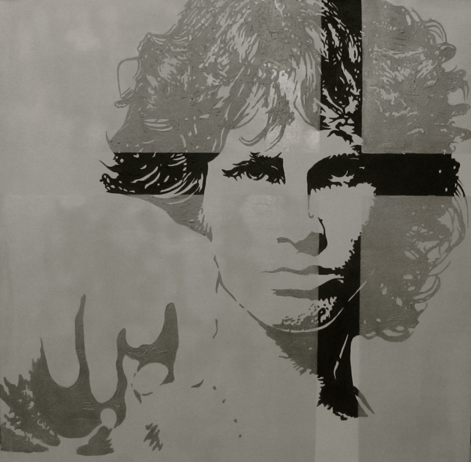 Jim Morrison,by Louis-Nicolas Darbon