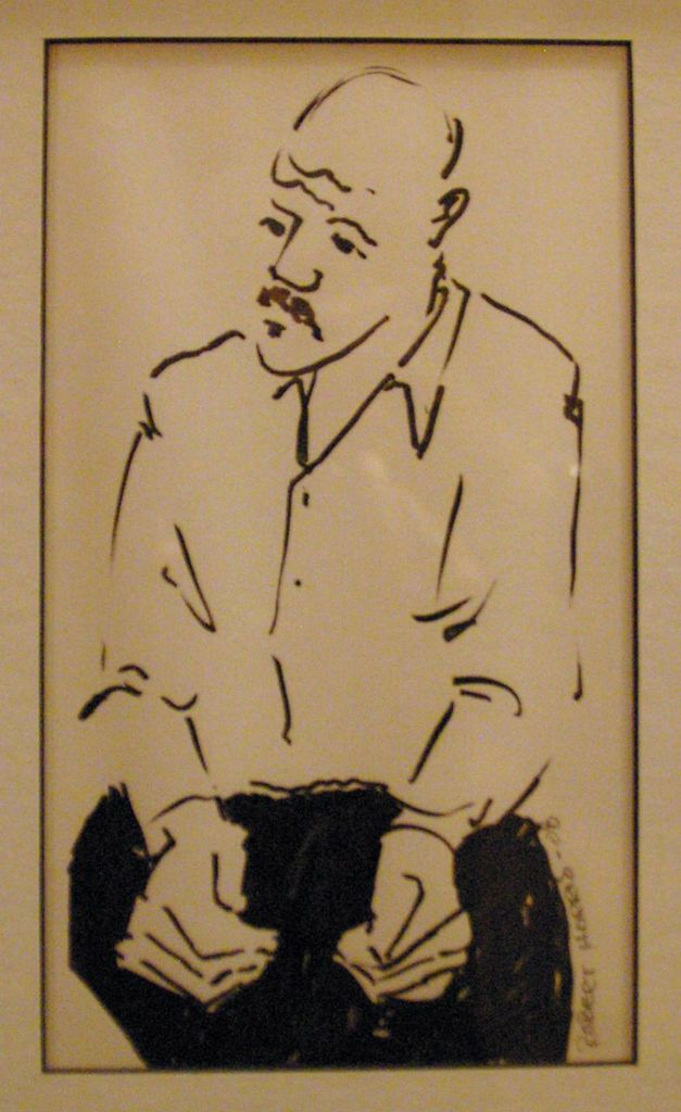 Robert Harris I'm A Man Too (2008) Brush and Ink 12 x 8 3⁄4 Frame 7 7/8 x 4 1/2 Mat window