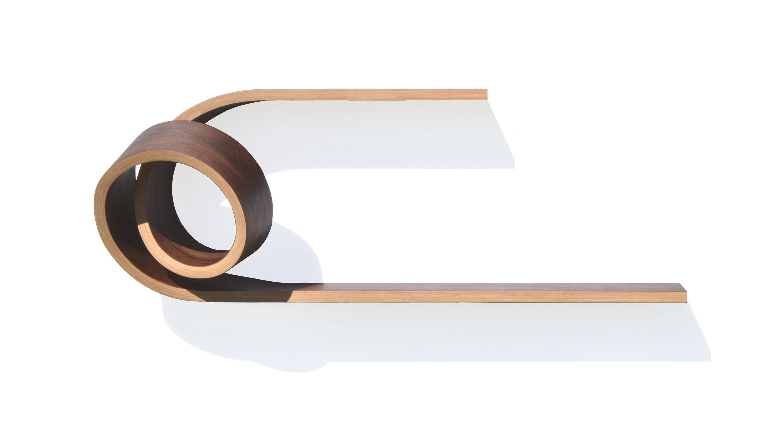 Simple Twist Shelf by Kino Guerin