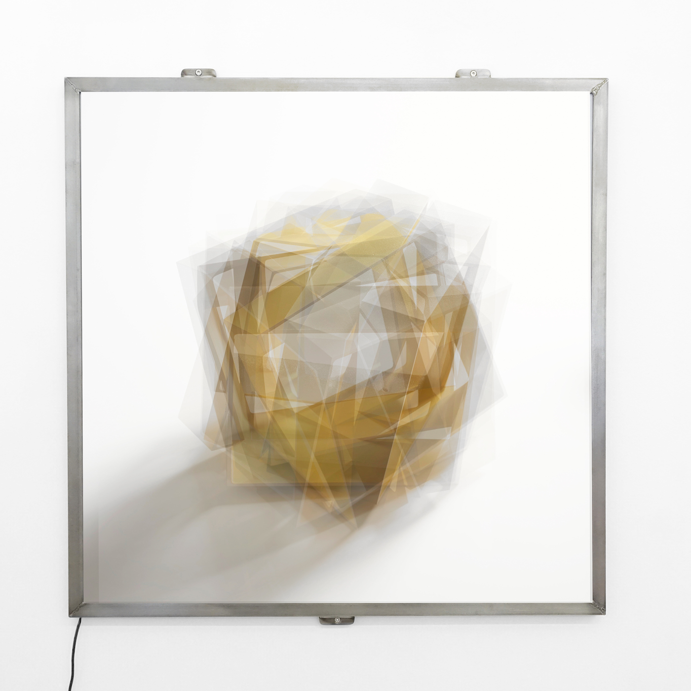 At a distance | yellow |  Digital light panels