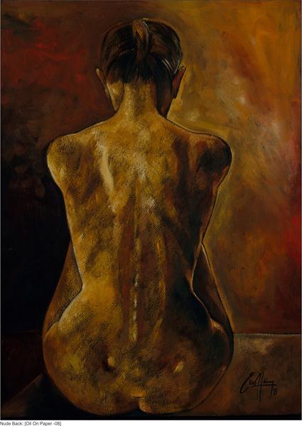 """Michael Escoffery, """"nude torso"""""""