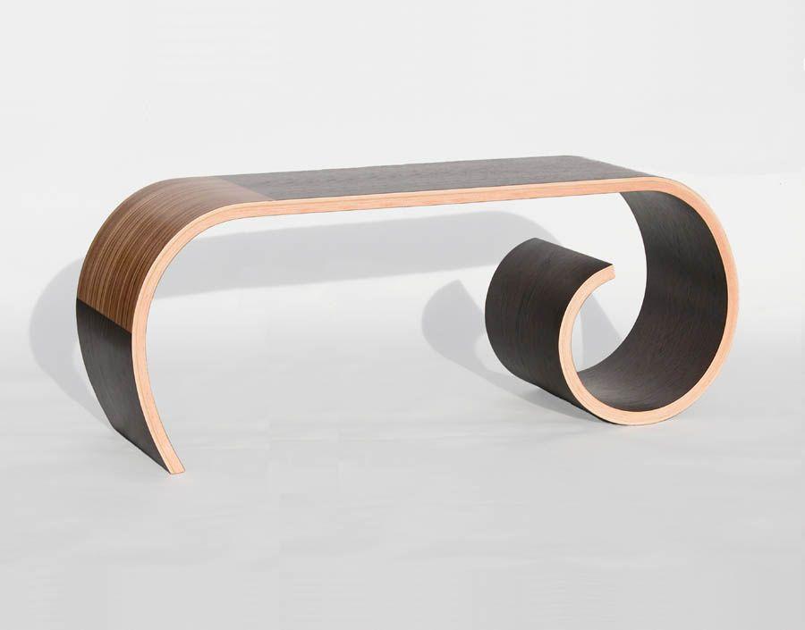 Long Toboggan Bench by Kino Guerin