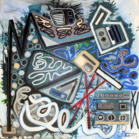 """Jaime Rozen, Artwork # 60  is Acrylic on canvas, the size is  36"""" X 36"""" X 1.5"""""""