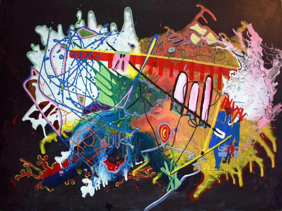 Jaime Rozen, Politics of space, 2013, Arcylic on canvas, 36 x 48 in
