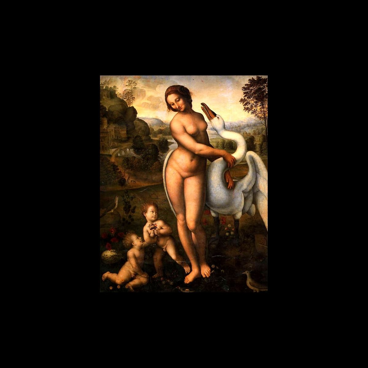 Leda and the Swan, copy attributed to Il Sodoma, c. 1510–15