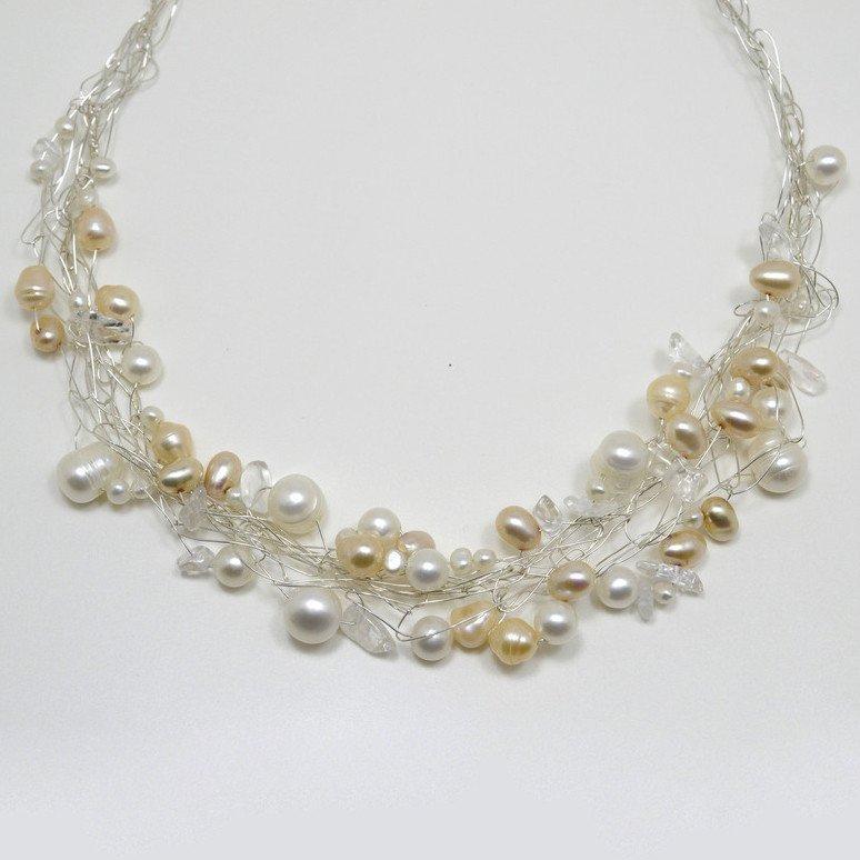 Susan Freda |  Spun Freshwater Pearl Wire Necklace