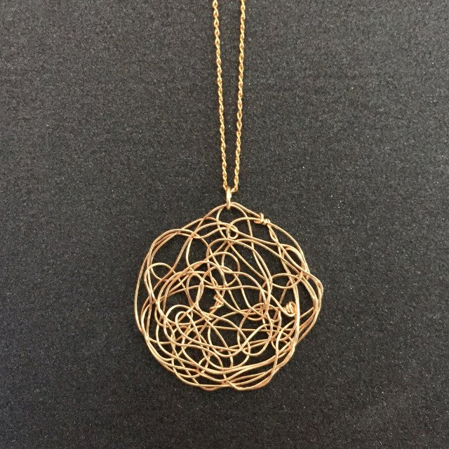 Small Woven Gold Filled Pendant | Susan Freda Collection