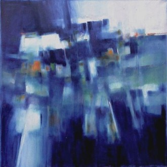 Joseph Hutchinson BLUE MESA Oil on canvas 30 x30 in., 2011