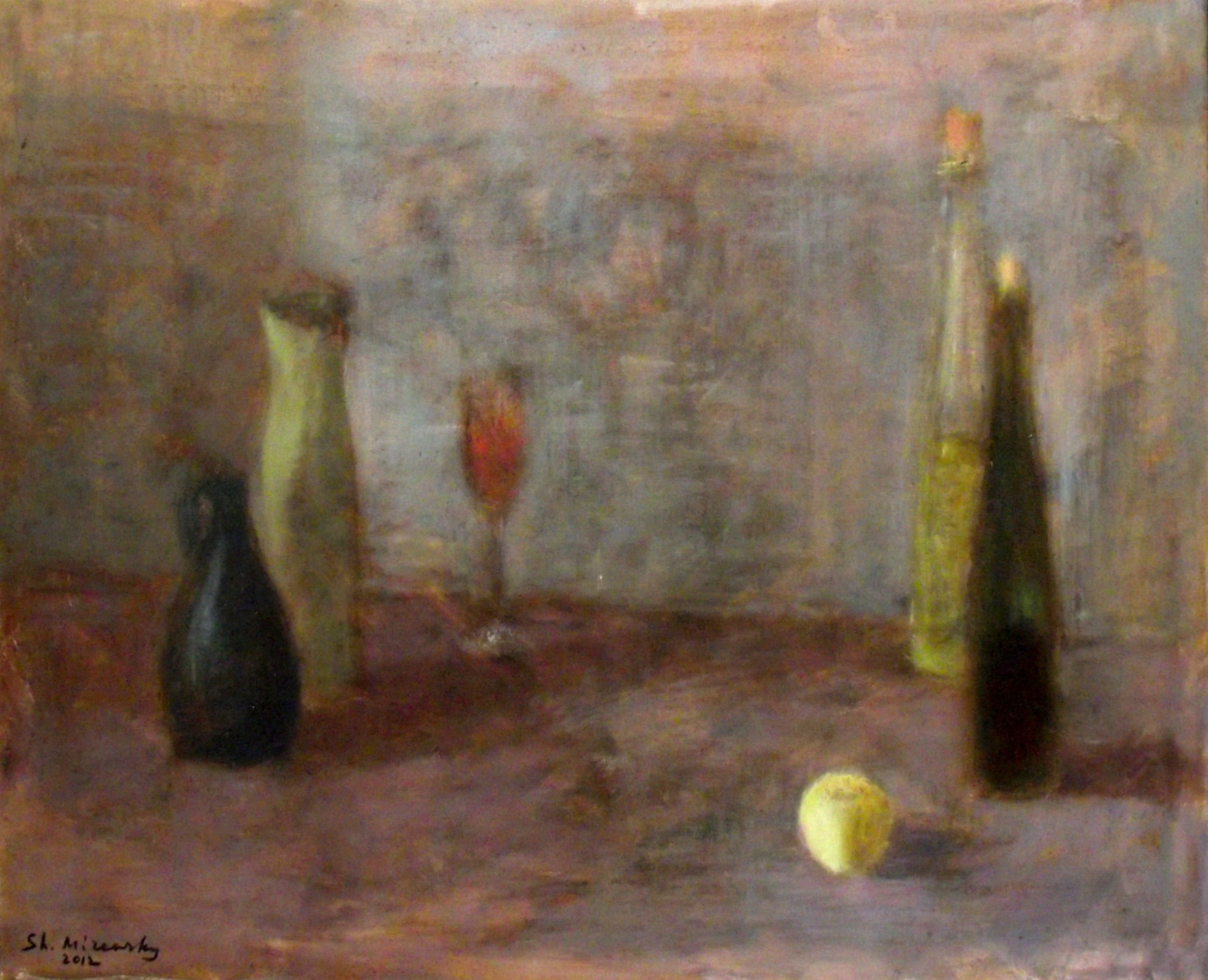 """Still life with an apple"""