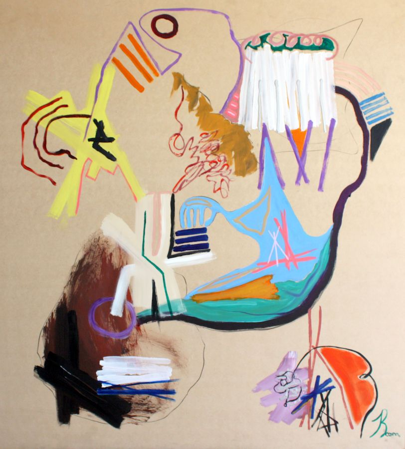Jaime Rozen, Abstract Systems, 2013, Arcylic on wood, 48 x 42 in