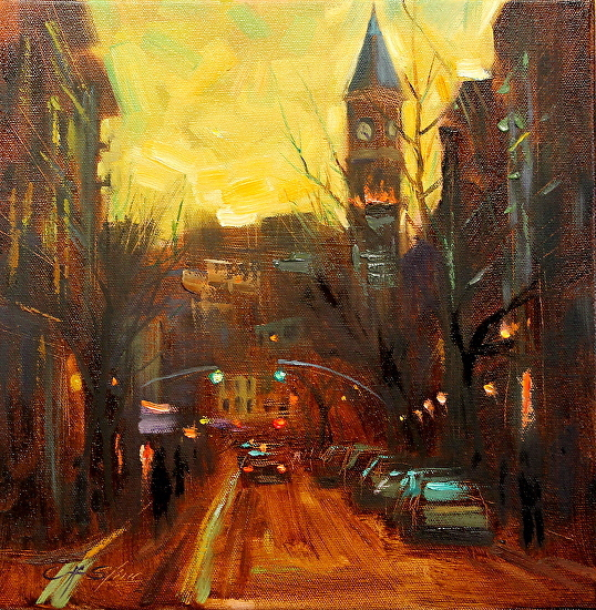Chin H. Shin TWILIGHT AT THE CLOCK TOWER