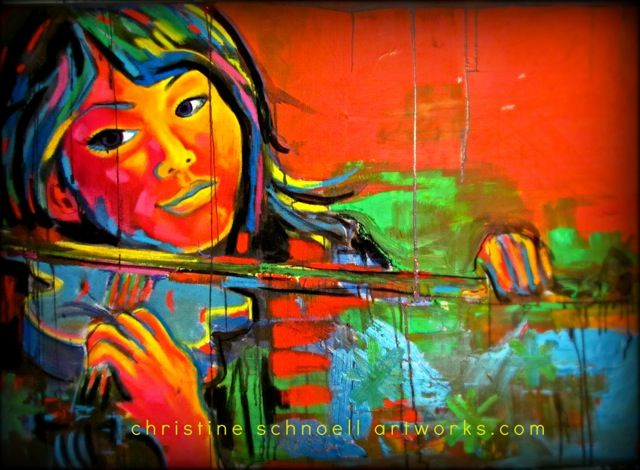 Christine Schnoell, If music be the food of love, play on. W. Shakespeare 120 x 80 cm Acrylics, Pastels, Oil, Pigments on Canvas