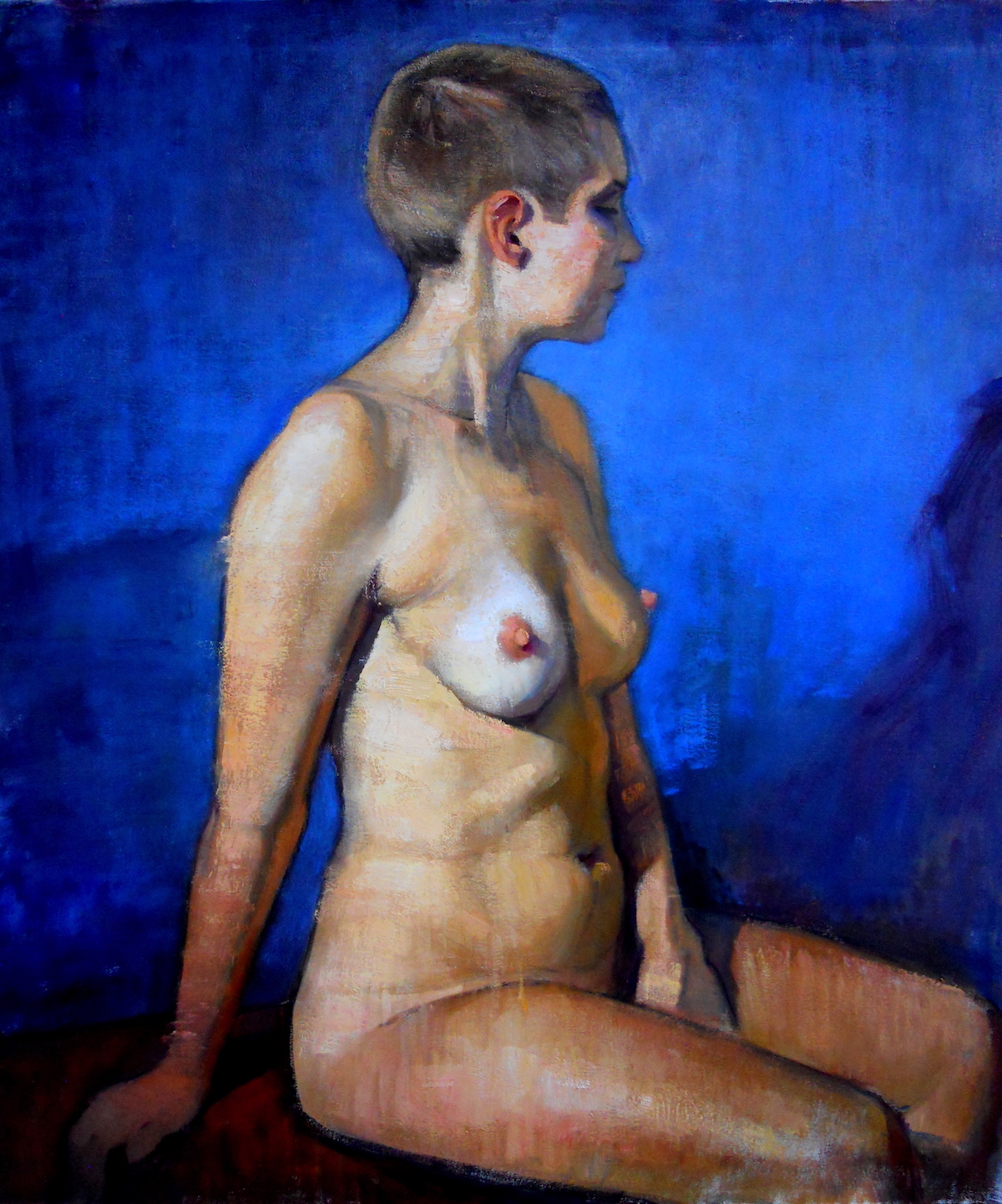 Female Nude in Blue | 2015