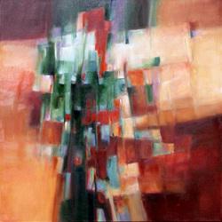 Joseph Hutchinson OCTOBER SUNRISE Oil on canvas 30 x 30 in. 2011