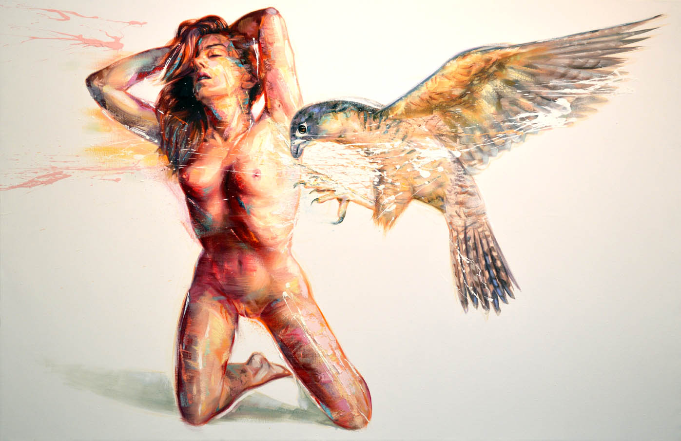 Nude with Falcon