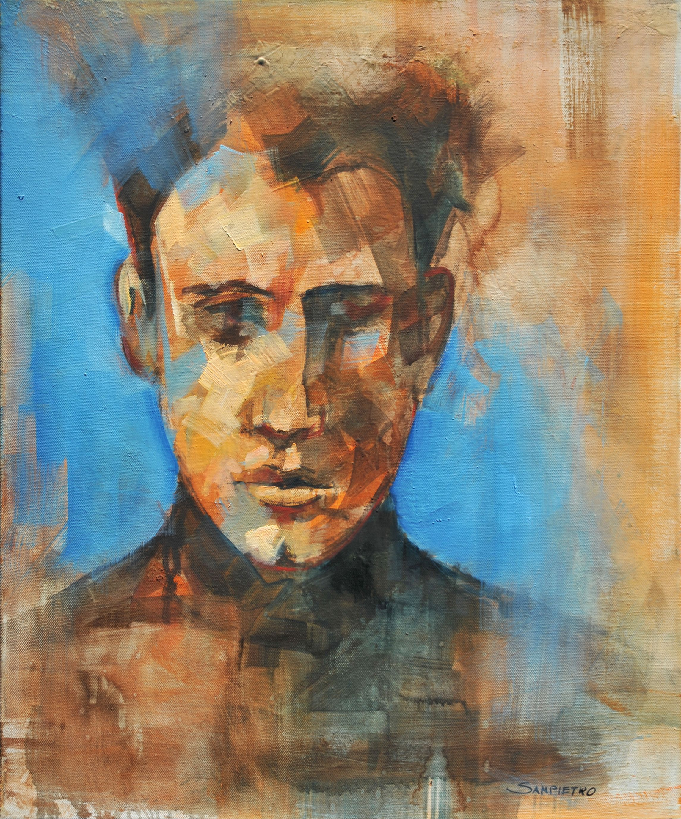 Study of a male portrait
