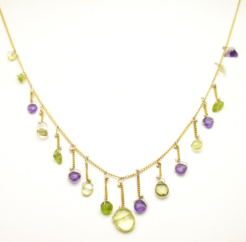 Susan Freda | Chain Necklace with Amethyst, Citrine, & Peridot