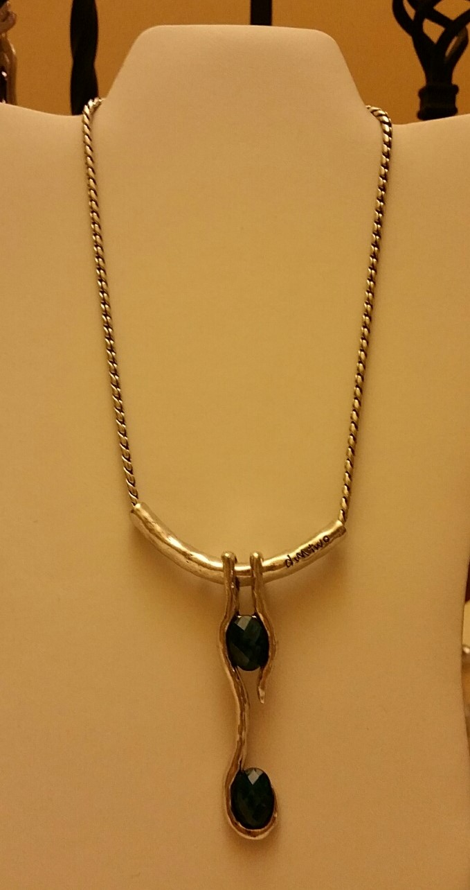 Blue Stones Necklace 1N50