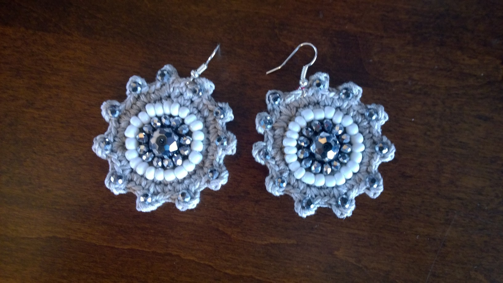 Silver Flower Earrings 3E10