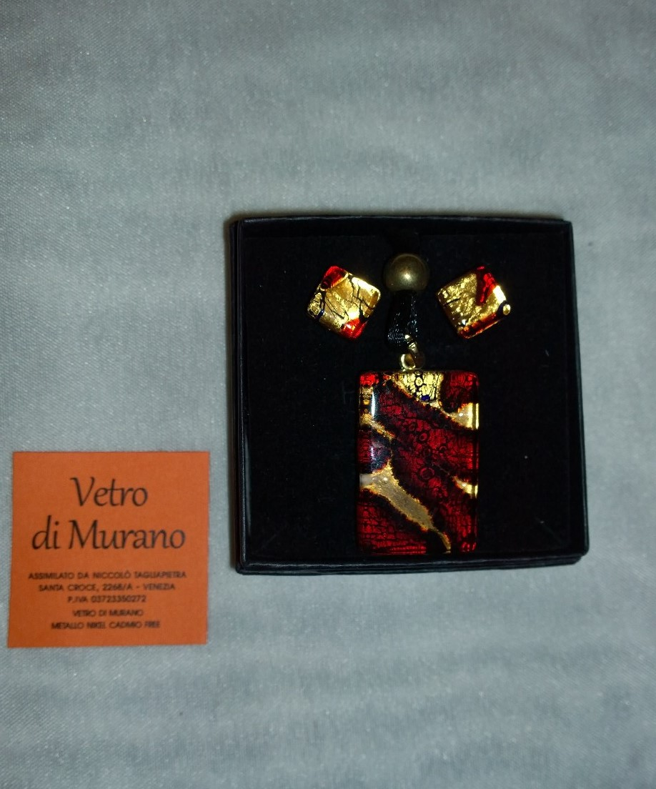 Red and Gold Murano Set 2SM01