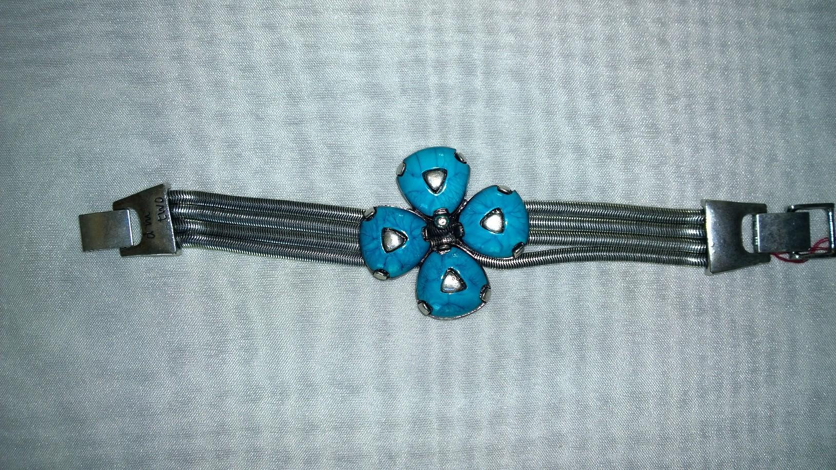 Blue Flower Bracelet 1B29