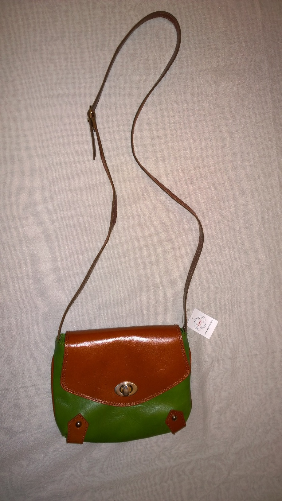 Green and Brown Cross Shoulder Purse Gbs01