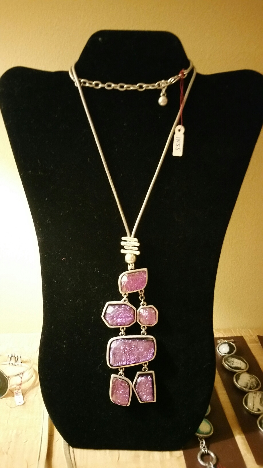Purple Crystals Necklace 1N55