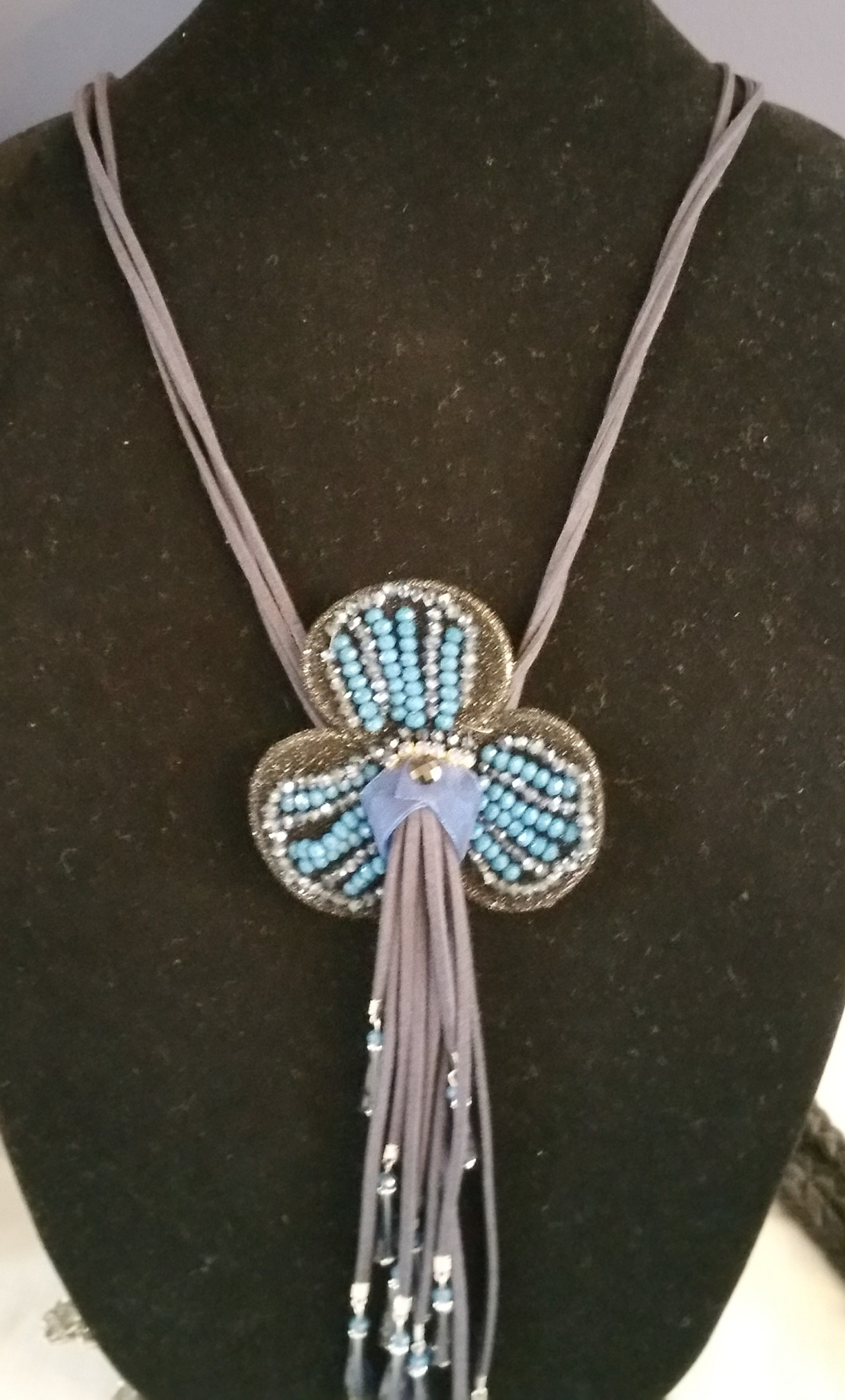 Blue Long Necklace 7N4