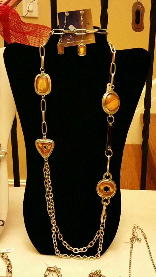Long Necklace 1N43 and Earrings 1EA46----SOLD----