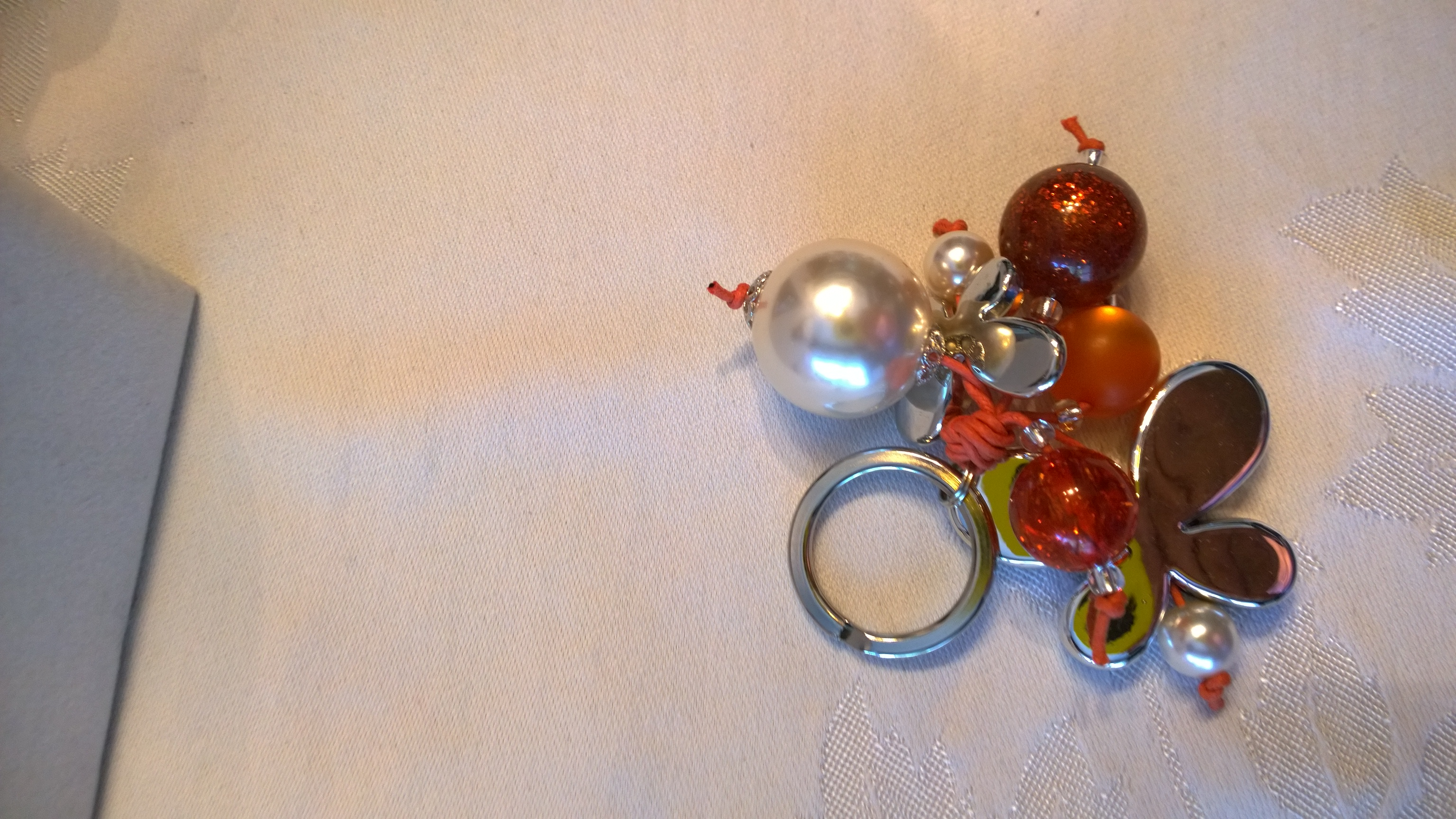 Orange and Silver Key Holder 0804KH