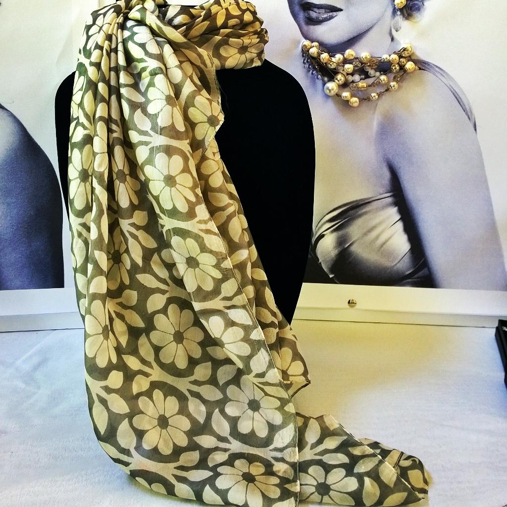 Floral Scarf 100% Silk 1303SC