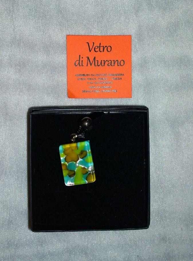 Small Aqua and Yellow Murano 2N01
