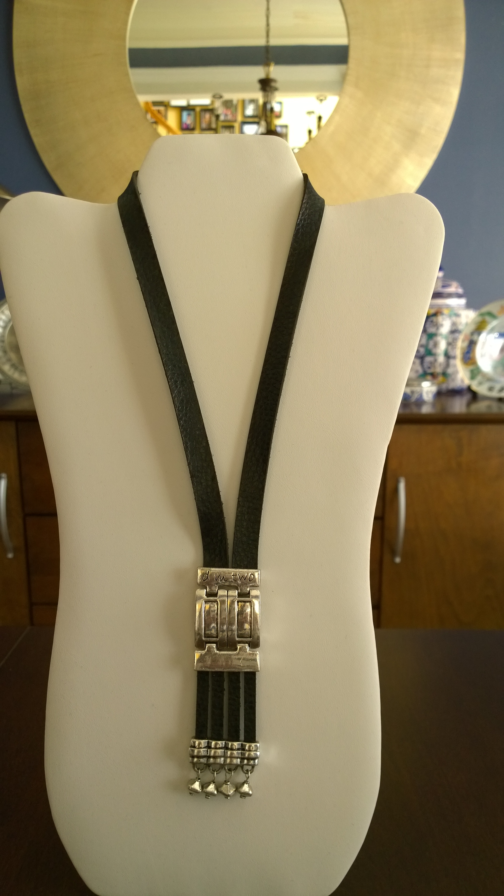 Black Leather Necklace 1N14
